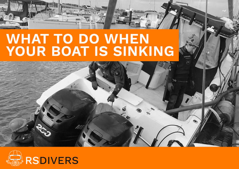 what to do when your boat is sinking